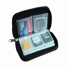 Azerin 1 PC Black 22 SDHC MMC CF Micro SD Memory Card Storage Carrying Zipper Pouch Case Protector Holder Wallet