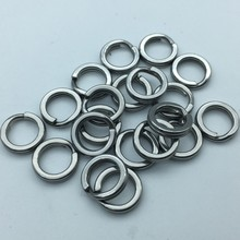 50pcs/lot Fishing Hard Lure Bait Connector Rings 304 Stainless Steel Squashed Dual Ring Round Double Layer fishing Accessories