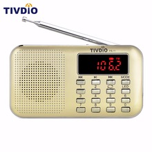 TIVDIO PR-11 Mini Portable Radio Digital Tuning FM / AM Radio With MP3 Music Player Flashlight Repeat Radio Station F9210J(China)