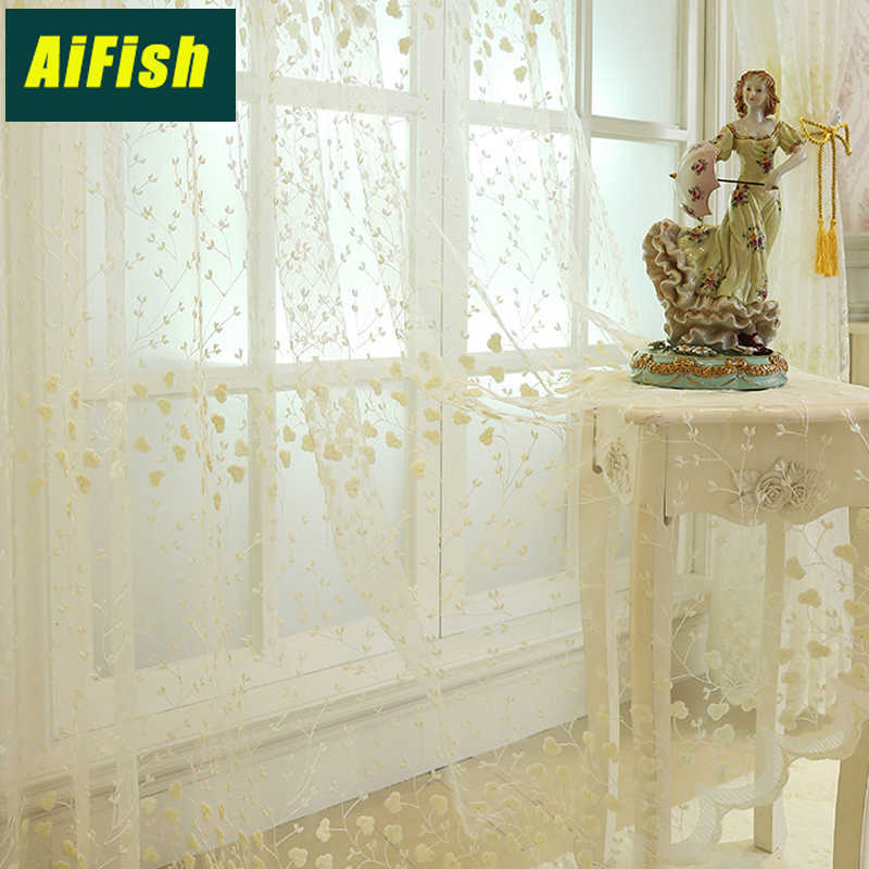 Korean Pastoral Embroidery Screen Curtain Flower Pink Yarn Lace Curtain Sheer Tulle Curtains Bedroom Window Curtain WP208&3