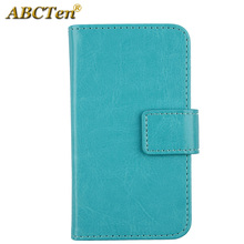 ABCTen Cell Phone PU Leather Wallet Cards Cover Protector Pouch Case For WIKO Darknight(China)