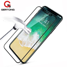 GerTong For iPhone X 8 7 6 6S Plus Tempered Glass Full Cover Screen Protector For iPhone X 8 7 6 6S Plus 5 5S SE Toughened Film