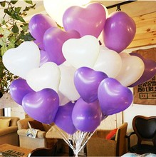 20 pc Red Heart Balloons Pink White Purple Latex Ballons Birthday Globos Wedding Birthday Party Decoration 12 Inch 3.2 g