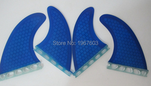 4pcs/lot Future Surf fin Glassfiber honeycomb G5 GX surfing fins quad set (2 piece G5 side fin, 2 piece GX center fin)