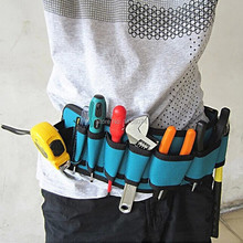 Electricians Tool Belt Repair Pouch Electrician Tool Pockets Tool Waist Bag Multifunctional Waterproof Carpenter Canvas Tool Bag