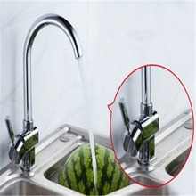 New Zinc Alloy Chrome Kitchen Mixer Cold and Hot Kitchen Tap Single Hole Water Tap Kitchen Faucet Stainless Stain Faucets(China)