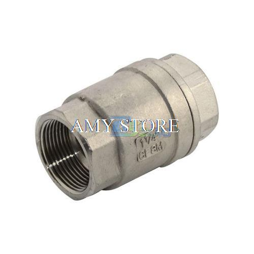 1-1/4 Check Valve WOG 1000 Spring Loaded In-line Stainless Steel SS304 CF8M BSP<br><br>Aliexpress