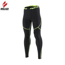 Arsuxeo Winter Warm Thermal Fleece Running Tights Men Gym Fitness Crossfit Football Training Sport Leggings Compression Pants(China)