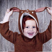 Christmas Baby Sweater Girl Boy Clothes Winter Thicken Casual Kids Knitwear Deer Jumper Cute Children Sweater Jacket Cardigan