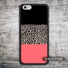 Leopard Print Black and Coral Protective font b Case b font For font b iPhone b