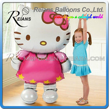 116*68cm Large Size Hello Kitty Cat pink Aluminum Foil Balloon Cartoon Wedding Birthday Party Decoration Inflatable Air Balloon(China)