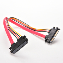 1PC 30cm 22Pin SATA Cable Male to Female 7+15 Pin Serial ATA SATA Data Power Combo Extension Cable Connector Conterver