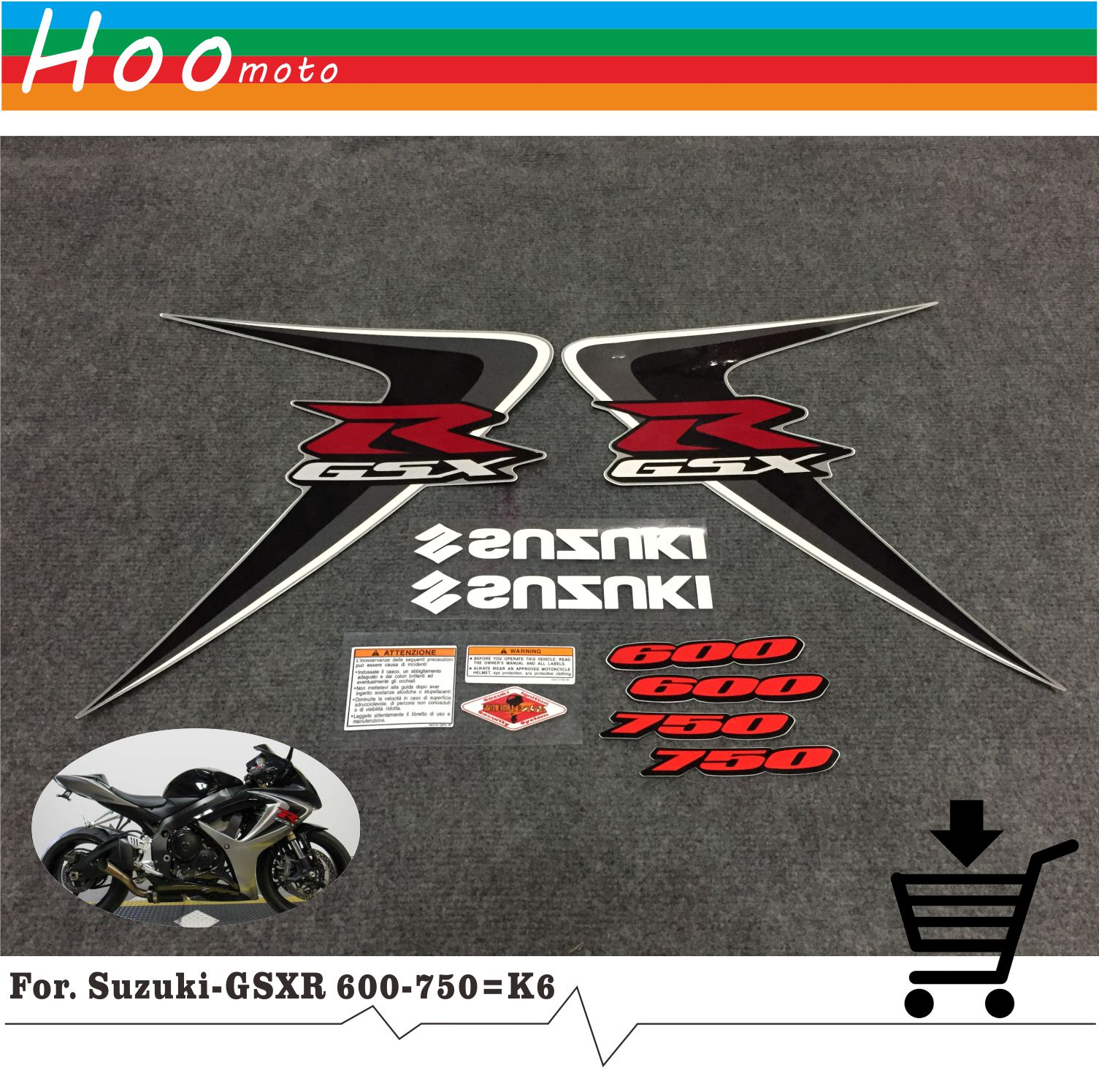 New for Suzuki GSXR GSX-R GSX R 600 K6 2006 MOTO High Quality Decals Sticker Motorcycle Car-styling Stickers More K6 K8 K11 K7<br>
