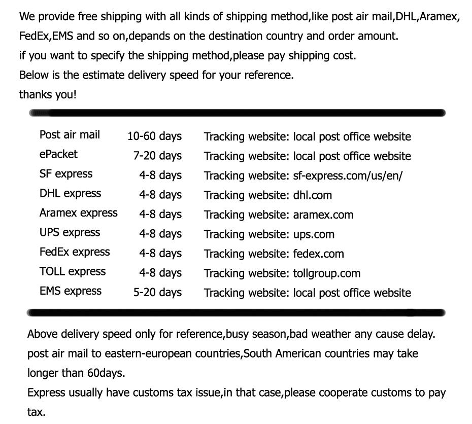 32neirong shipping tax