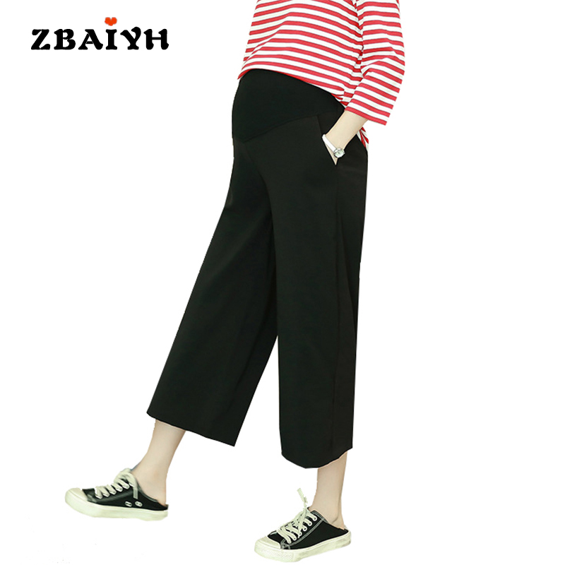 Maternity pants loose pregnancy clothes summer fashion calf-length pregnant women clothing Wide leg moda gestantes pant AYF-K010<br>