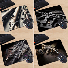 Hot Sale Mouse Mat Tubber Cool Non-Skid Guns Rifles Animals Cartoon Mouse Pad New Design Two Size 180x220x2mm 250x290x2mm