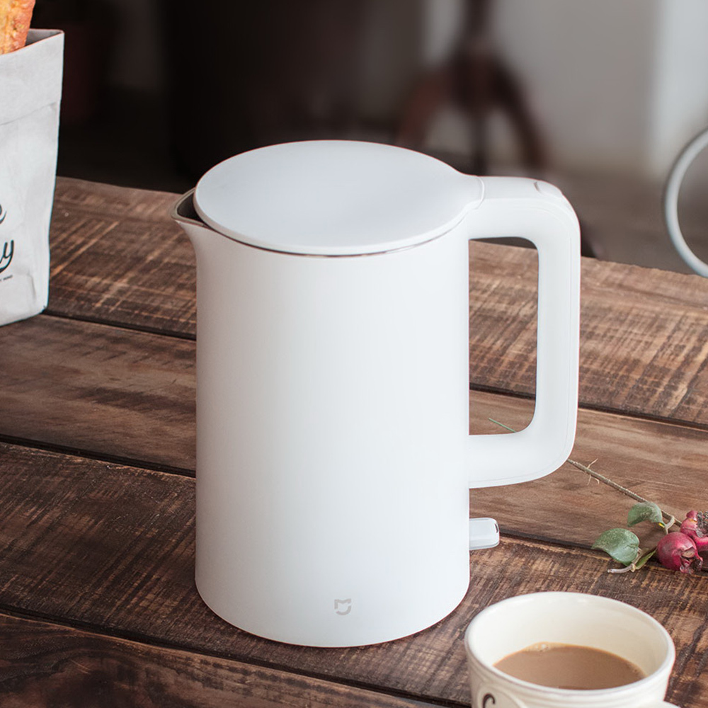 Xiaomi Mijia Mi 1.5L Electric Water Kettle Auto Power-off Protection 304 Stainless Steel Inner Layer Fast Boiling Water Kettle<br>