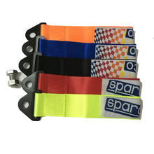 1pc Universal Racing car tow strap towing ropes with screws and nut tow strap with SPARC-logo (Red/Black/Orange/Blue/Neon Green)