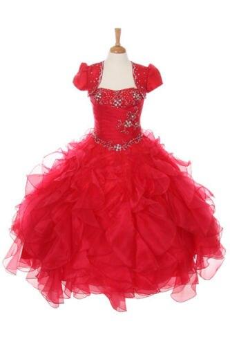 Новый Блеск Театрализованное Национальный девушка платье Болеро Красный 3 4 5 6 7 8 10 12 14 16(China)