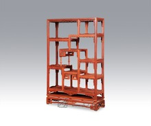 Whatnot new chinese style Antique Curios Cabinet Rosewood Living Room Furniture Filing Display Rack solid wood bookcase cupboard(China)