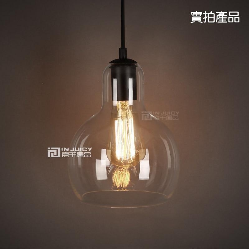 Loft Vintage Edison E27 Droplight Cute Glass DIY Lampshade Bar Cafe Decorative lighting Ceiling Lamp For Cafe Bar Bedside Hall<br>