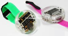 Free shipping Digital Watch Electronic Clock Kit single-chip LED watches electronic clock kit DIY LED With Transparent Cover (DI