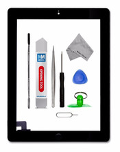 For IPAD 2 white/black Digitizer Touch Screen Front Display Glass Assembly - Includes Home Button and flex + Camera Holder