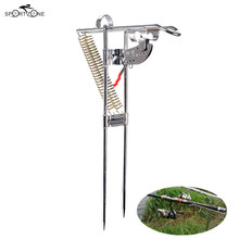 463g Automatic Fishing Pole Bracket Fishing Rod Mount Steel High Strength Outdoor Fish Pole Holder Standard Fishing Gear Pesca(China)