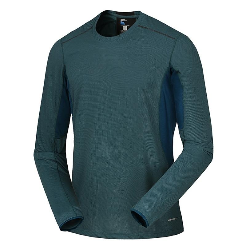 Spring Men Elastic Quick Dry T-shirt Male Outdoor Tees Long Sleeve Shirt Sport Breathable Soft Fabric Trekking Hiking Shirt7