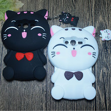 Capa For Samsung Galaxy Grand Prime G530 Core G360 Ace 4 G313H Cases Soft Silicone Rubber Lucky Cat Pet Kitty With Bow Tie G530H
