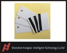 100pcs Free sipping New Pvc blank chip card with magnetic stripe, contact 4428 chip card