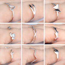 low price 6pcs Handmade silver plated rings 2016 Fashion Simple adjustable ring for women toe ring Free shipping fine Jewelry
