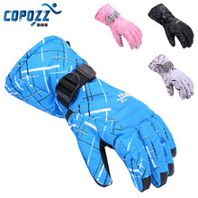 Men Skiing Gloves TPU Bag Waterproof Motorcycle Winter Snowmobile Snowboard Ski Gloves Warm Ride Thick Gloves