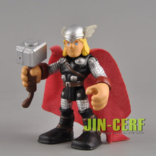 Original Playskool Marvel Hero  THOR squad avengers 2.5 inch Figure Toy gift