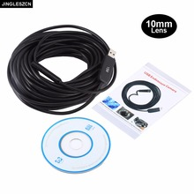 JINGLESZCN USB Endoscope Camera 10MM Dia 2m 5m 7m 10m 15m 20m 25m Waterproof IP67 Borescope Inspection Snake Video Cam Endoscope(China)