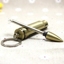 Bullet Shape Camping Survival Emergency Fire Starter Flint Match Lighter With Key Chain free shipping