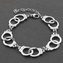 Silver Plated Fifty Shades of Grey Handcuff Bracelet For Women Men Bracelet Menottes Classic Fashion Charm Bracelets & Bangles
