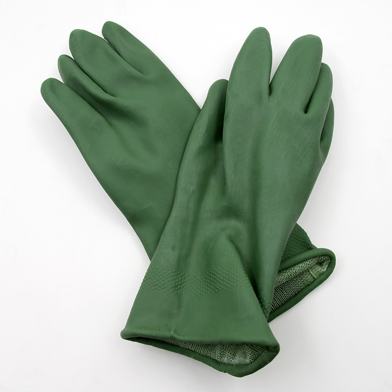 New latex guantes green 35 cm gas chemical defense guantes trabajo elastic good tensile arbeitshandschuhe<br><br>Aliexpress