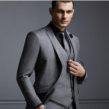 new Men's suits, The new men's suits men business suits two styles can be customized cultivate one's morality grey suit(China)