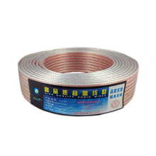 Pure copper 400 core transparent gold and silver wire transparent audio speaker cable car audio speaker cable