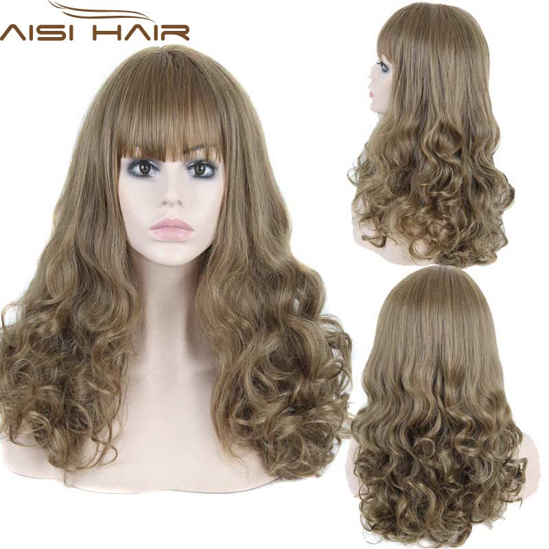 Synthetic Wigs Natural Cheap Hair Wig Lolita Womens Wigs Blonde Hair Long Curly Wig Cosplay Blond Heat Resistant<br><br>Aliexpress