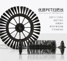 Broom for Sweeping Broom Robot Vacuum Cleaner 360 Degree Rotating Hand-Push Dual Brush Cordless Swivel Sweeper Rubber Broom(China)