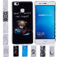 Skid Clear Wave Frame Pattern Soft TPU Case Back Protect Skin Rubber Phone Cover Silicone For Huawei P9 Lite P9Lite G9 Lite