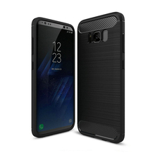 "Glossy Spigen Rugged Soft Armor Case for Samsung Galaxy S8 G9500 5.8"" Resilient Shock Absorption and Carbon Fiber Design Cover"