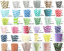Hot Sale 100pcs Paper Straws Paper Drinking Straws For Kids Birthday Party Wedding Decorations Your Choice of 193 Colors