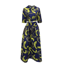 Summer Long Dress African Tribal National Wind Printing Half Sleeve Plus Size Africa Bazin Riche Maix Dresses S96621(China)