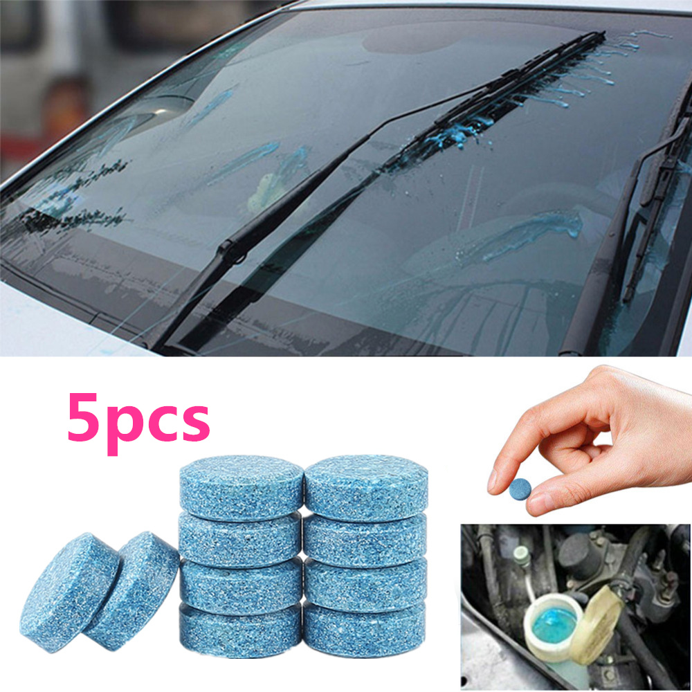 5PCS/Pack (5PCS=20L Water) Car Windshield Glass Cleaner Car Solid Tablets Wiper Fine Wiper Auto Window Cleaning Car Accessories (China)