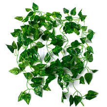 Artificial Silk Grape Ivy Plants Trailing plant Indoor outdoor decoration HG2482(China)