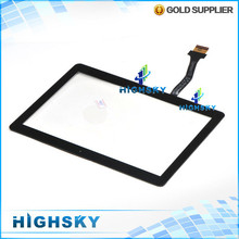 100% original 10 pcs/lot free shipping new lcd screen glass with flex cable touch digitizer for Samsung galaxy note 10.1 N8000