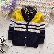 BibiCola casual boys open stitch sweater kids autumn winter wear underwear children High quality cheap clothes 2-5 years(China)